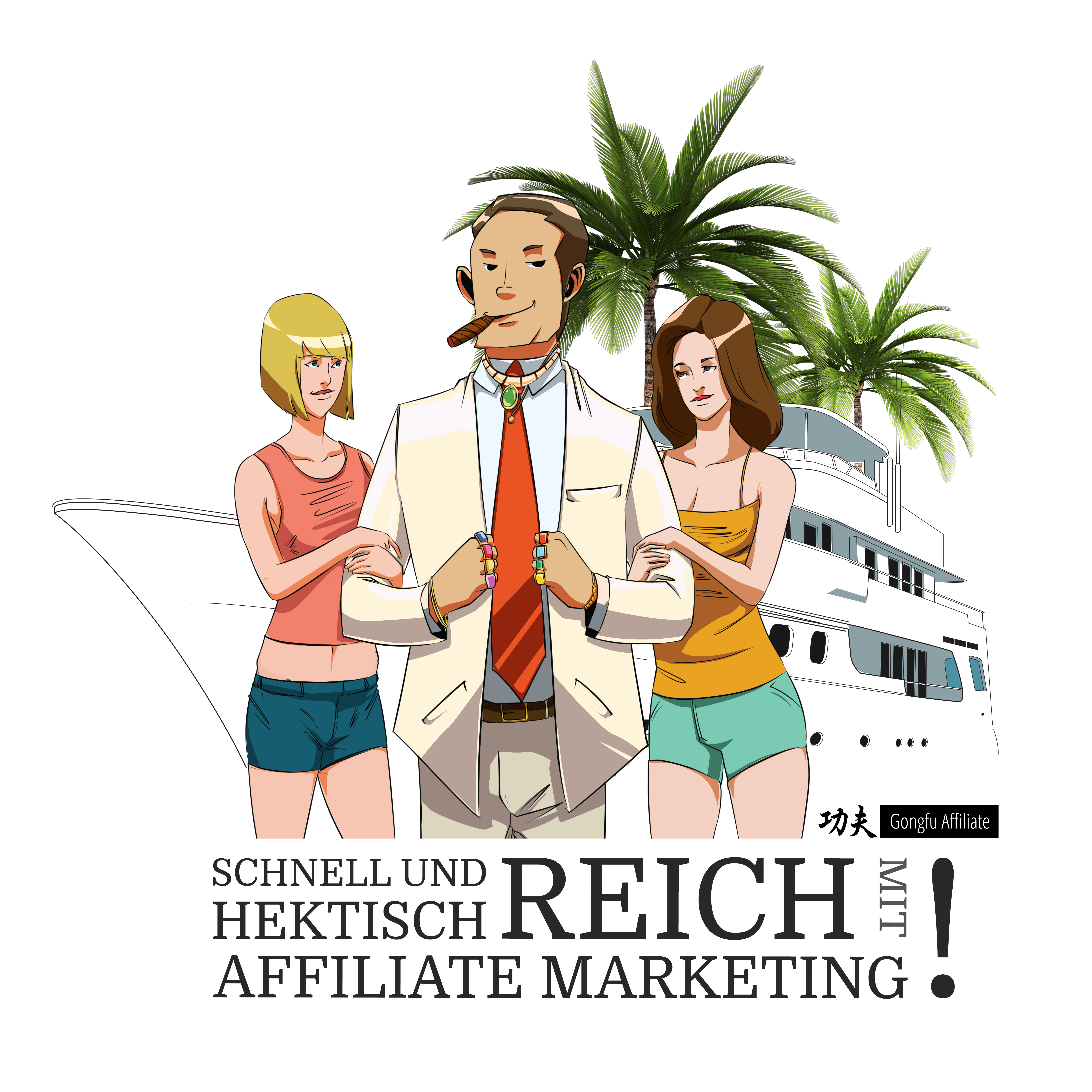Affiliate Marketing Parodie: Schnell und hektisch reich mit Affiliate Markerting.
